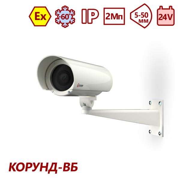 Видеокамера взрывозащищённая сетевая серии «Корунд-ВБ» <br>ТВК-61IP-4МВБ-V550-24VDC 14