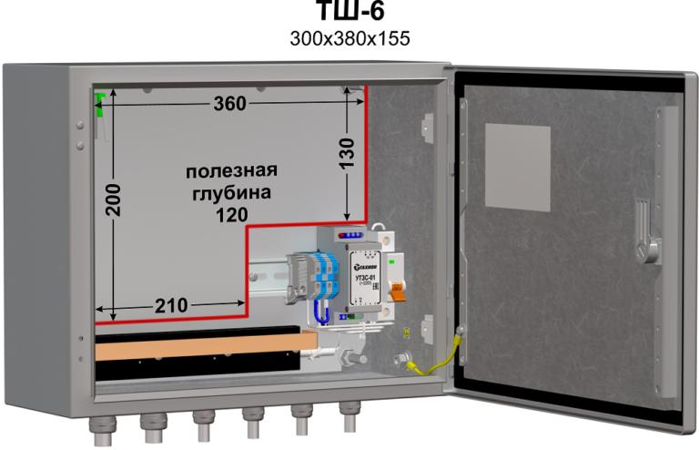 Термошкаф (380х300х155мм, -60°С) ТШ-6 2
