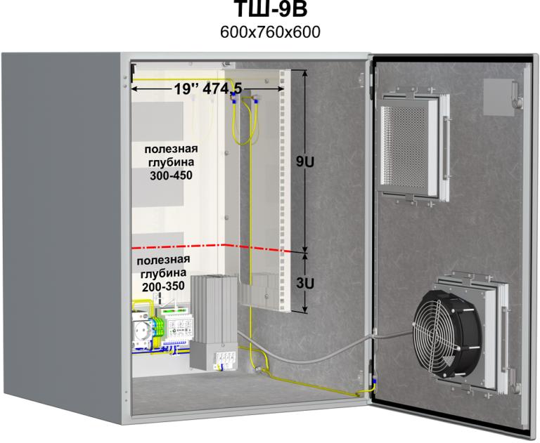 Термошкаф (600х760х600мм, -50°С) <br>ТШ-9В 2