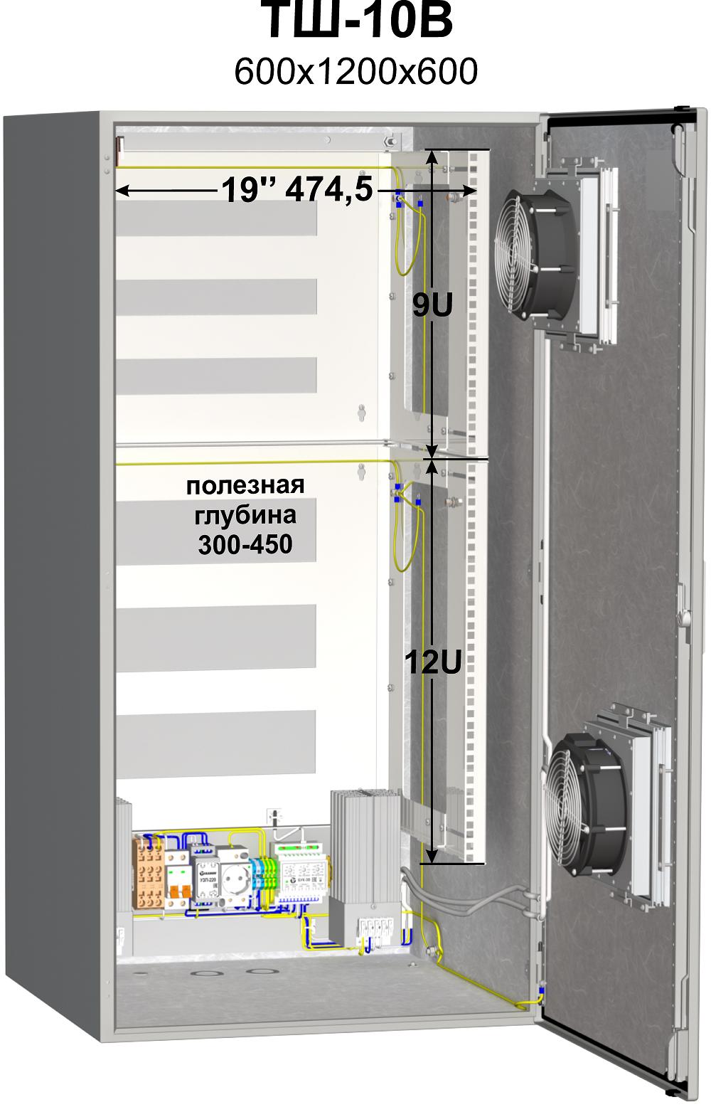 Термошкаф (600х1200х600мм, -50°С) ТШ-10В 19