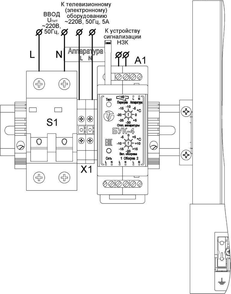 Подключение термошкафа ТШ-38.60.35.160