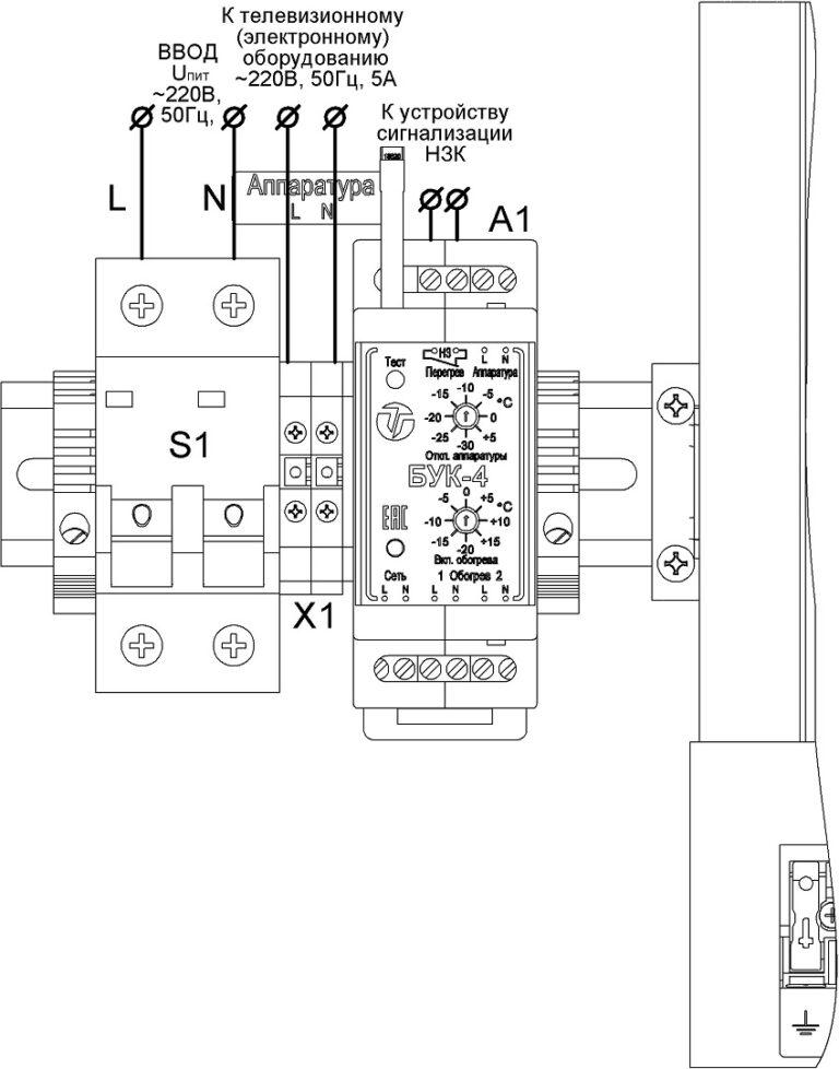 Подключение термошкафа ТШ-60.80.25.200