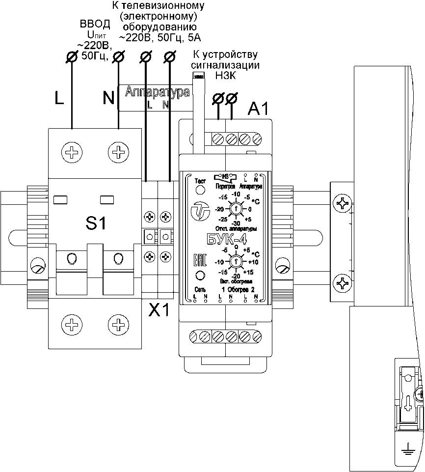 Подключение термошкафа ТШП-1