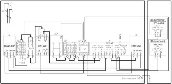 Схема электрическая принципиальная ТШ-10В