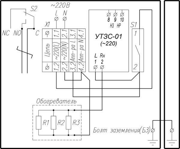 Схема электрическая принципиальная ТШ-6