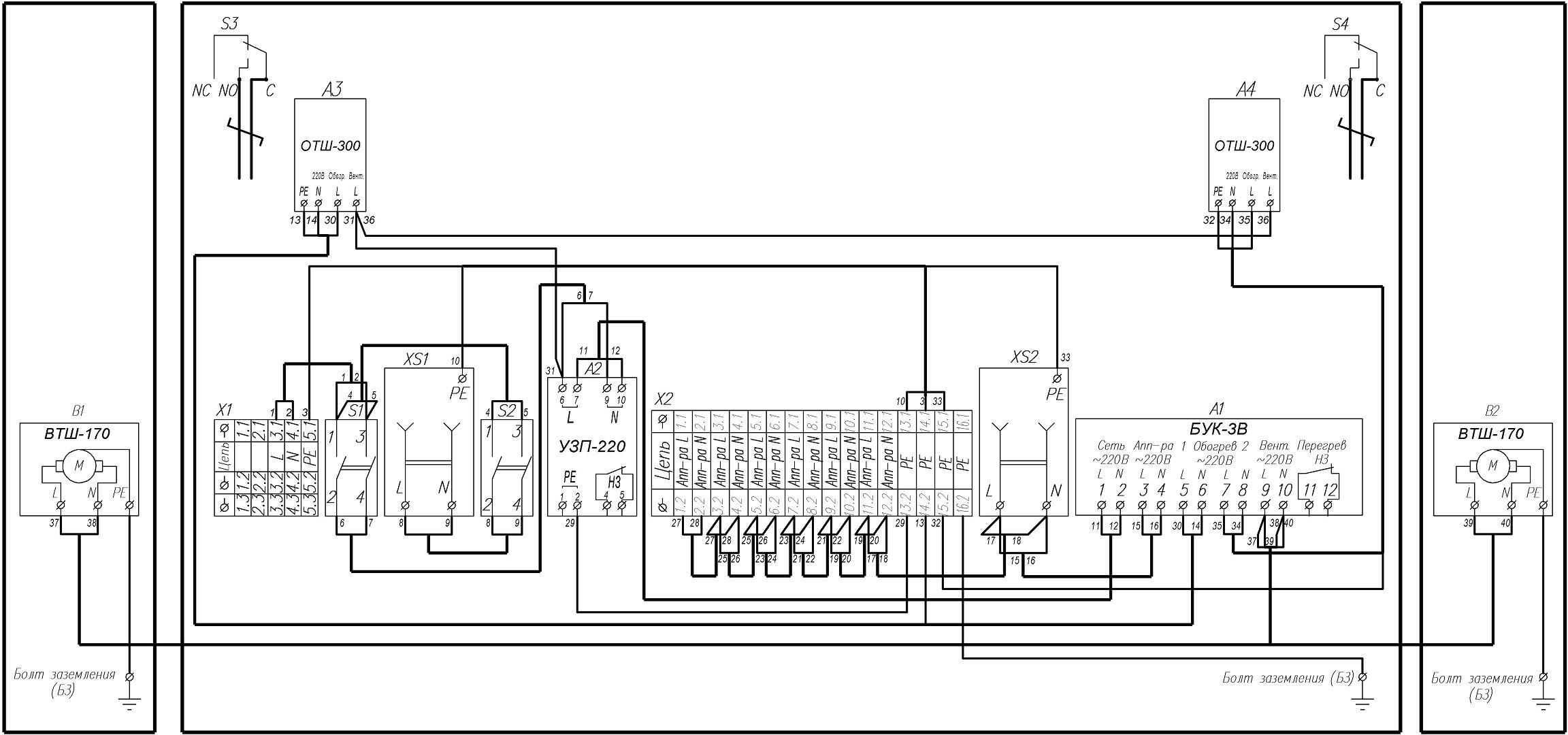 Схема электрическая принципиальная ТШ-8