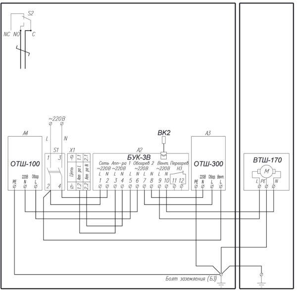 Схема электрическая принципиальная ТШВ-80.120.30.400