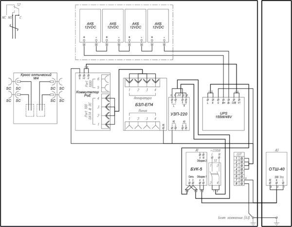 Схема электрическая принципиальная ВУК-24-РоЕ+ Р1 У11 У71
