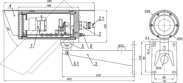 Видеокамера взрывозащищённая сетевая серии «Корунд-ВБ» <br>ТВК-61IP-4МВБ-V550-24VDC 17