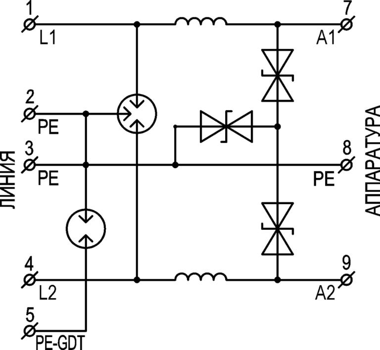Устройство защиты цепей низковольтного электропитания <br>УЗП-12DC/5 2