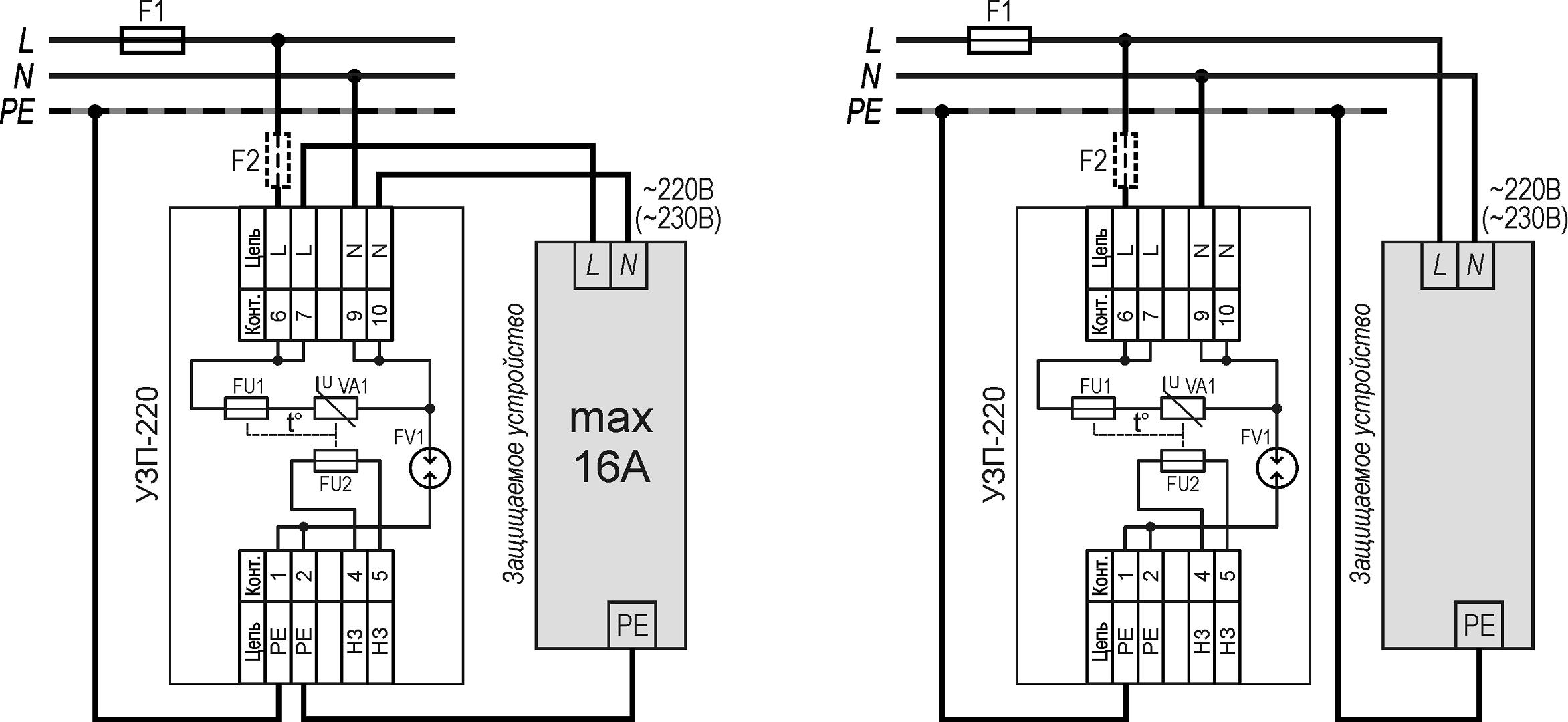 Устройство защиты электропитания 220В <br>УЗП-220 21