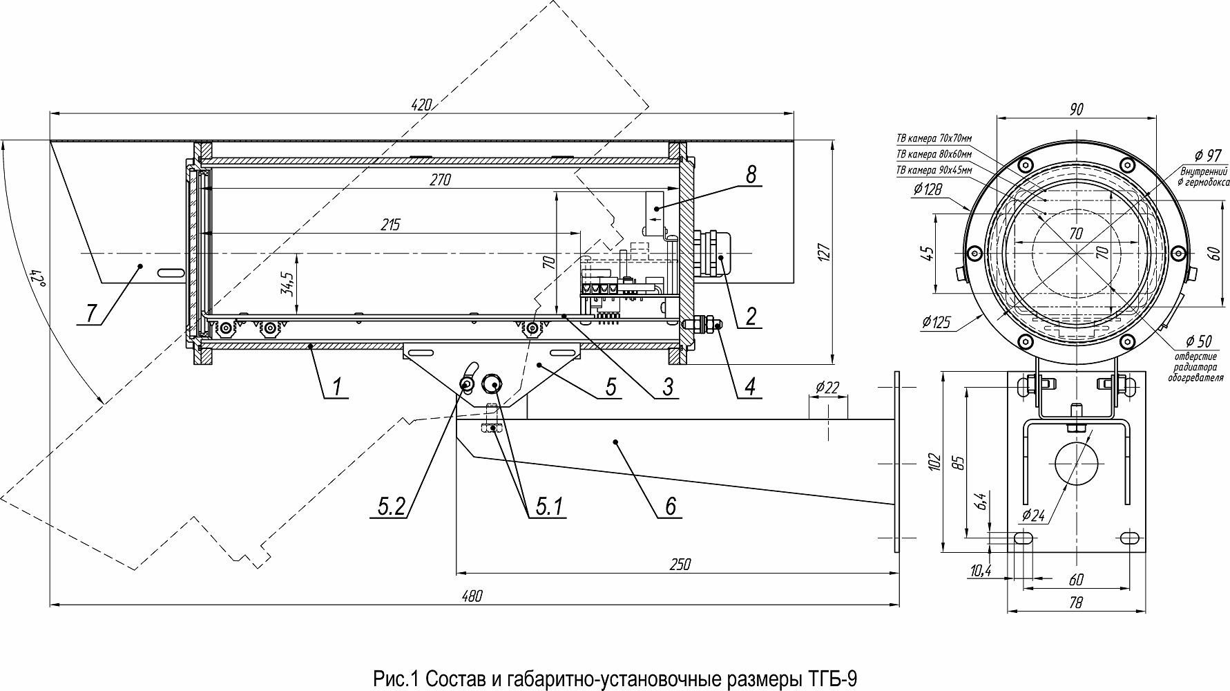 Термокожух из нержавеющей стали <br>ТГБ-9-24/12 20