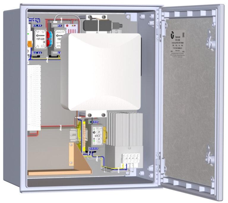 Всепогодный автономный узел видеонаблюдения <br>ВАУВ  GSM1-24В  ( ТШП-3-10)