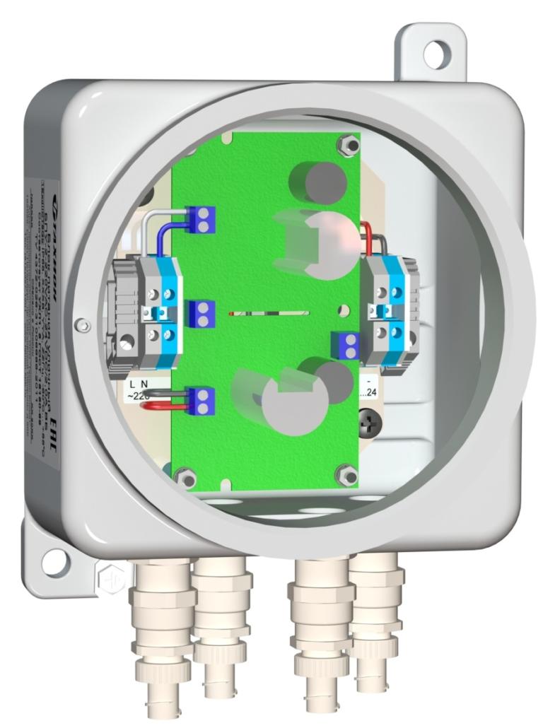 Блок питания уличный <br>БПУ-2-220VАС-24VDC/2,0А ВБ