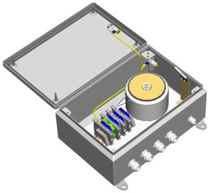 Блок питания уличный <br>БПУ-3-220VАС-24(27)VAC/10А