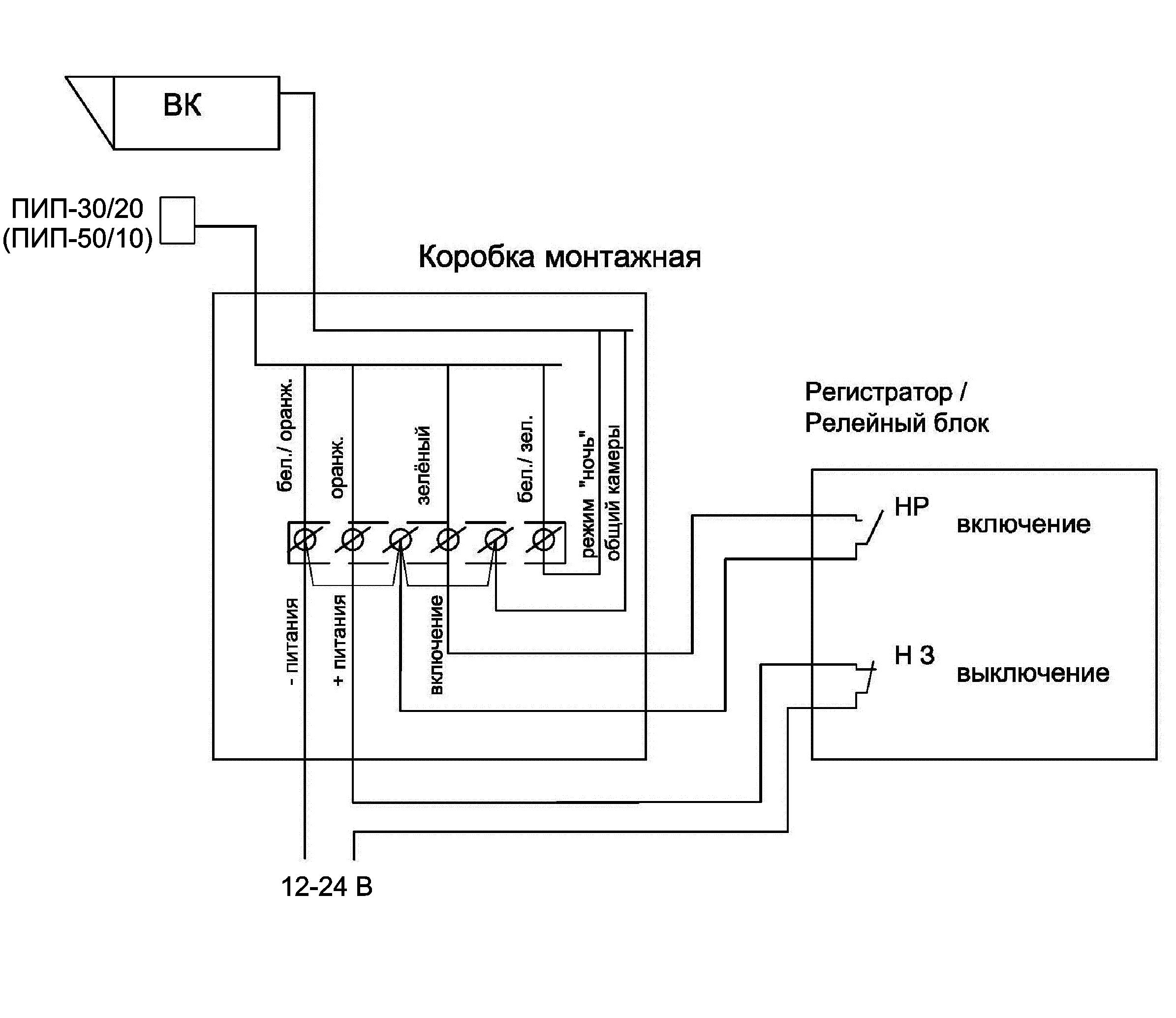 Схема подключения ПИП-30/20 (ПИП-50/10) во всех режимах управления
