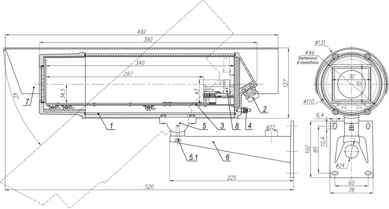 Состав и габаритно-установочные размеры ТГБ-7У