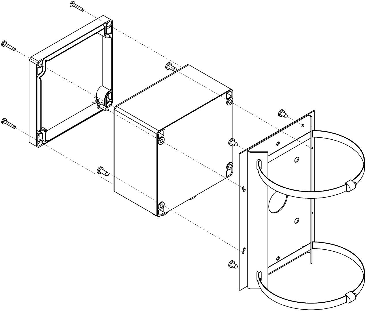 Монтаж коробок серии КР-1