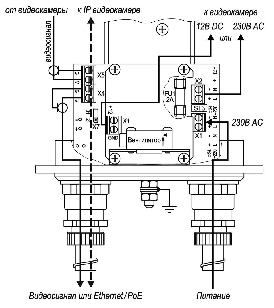 Подключение ТГБ-8Г Ех-220/12(~220)