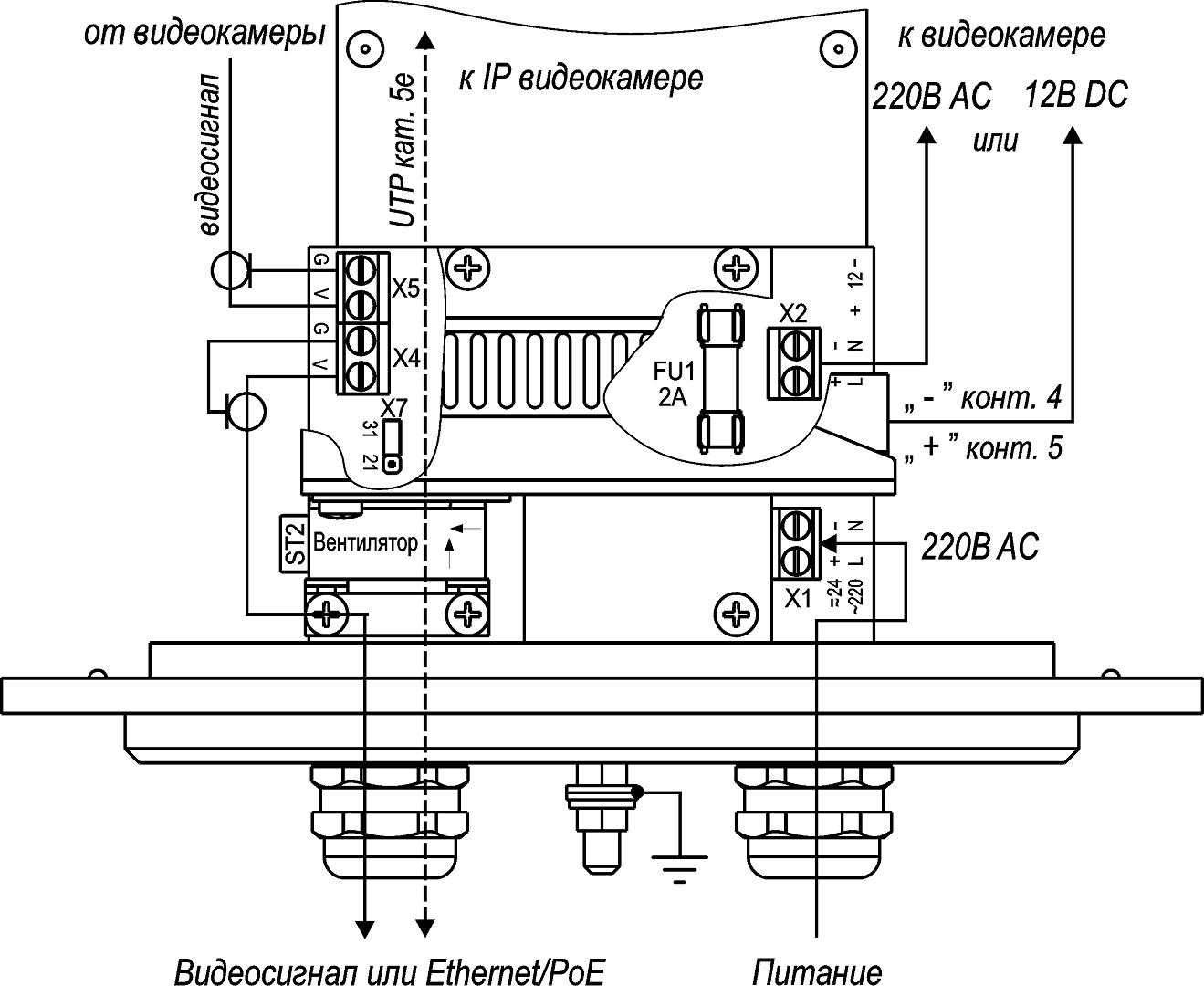 Подключение ТГБ-11-220