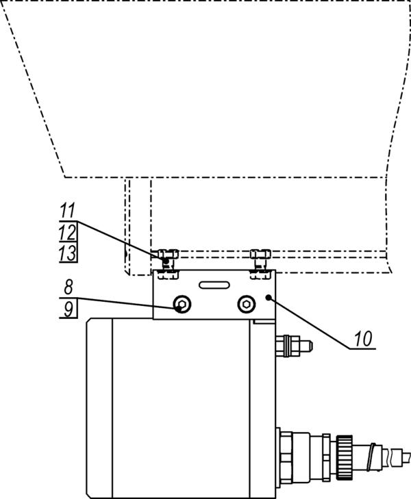 Установка прожектора на видеока меру в термокожухах ТГБ-4Г Ех, ТГБ-4Р Ех, ТГБ-4Г Ех IIC и ТГБ-4Р Ех IIC